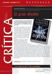 El gran diseño - PlanetadeLibros.com