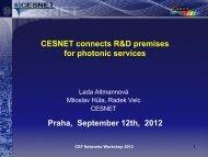 CESNET connects R&D premises for photonic services Praha ...
