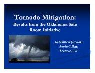 Tornado Mitigation: - Institute for Catastrophic Loss Reduction