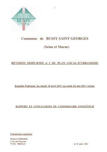 Commune de BUSSY SAINT GEORGES - Le Renard