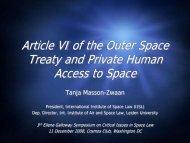 Le Droit de l'Espace - International Institute of Space Law