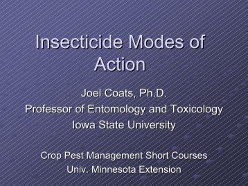 Mode of Action for Insecticides