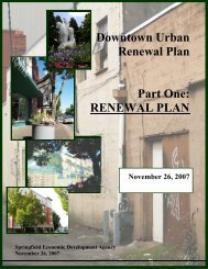 DOWNTOWN URBAN RENEWAL PLAN - City of Springfield