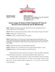 JLCC Celebrates 65 Years of Service - Junior League of Corpus ...