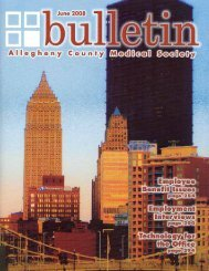 June 2008 Bulletin - Allegheny County Medical Society