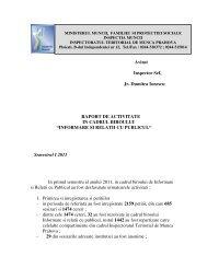 INFORMARE SI RELATII CU PUBLICUL - ITM Prahova