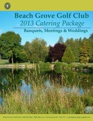 2012-2013 Catering Package - Beach Grove Golf Club