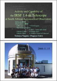Activity and capability of the IRSF 1.4m telescope at South African ...