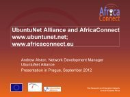 Research and Education Networking in Africa