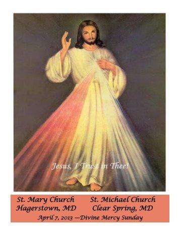 April 7, 2013, Divine Mercy Sunday - Saint Mary Catholic Church