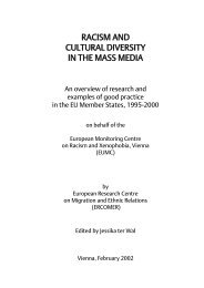 racism and cultural diversity in the mass media - European Union ...