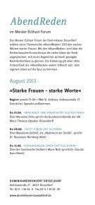 Flyer zu den AbendReden 2013 als PDF - Dominikaner Düsseldorf - Page 2