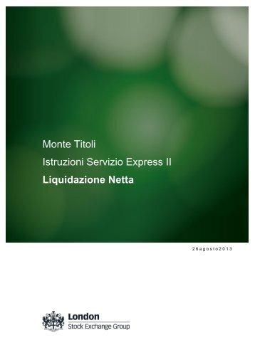 Liquidazione Netta - Monte Titoli
