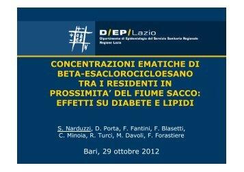 Concentrazioni ematiche di beta-esaclorocicloesano tra i residenti ...