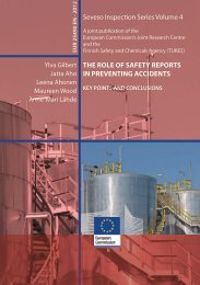 THE ROLE OF SAFETY REPORTS IN ... - IPSC - Europa