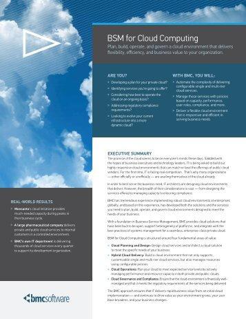 BSM for Cloud Computing - RightStar
