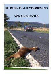Merkblatt Wildunfälle - Tierschutzverein Backnang
