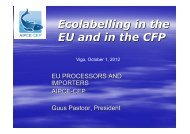 Ecolabelling in the EU and in the CFP - Conxemar