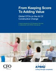 From Keeping Score To Adding Value - Directors & Boards