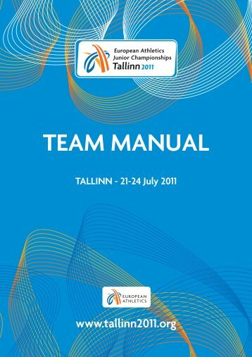 EJCH 2011 - Team manual - European Athletics