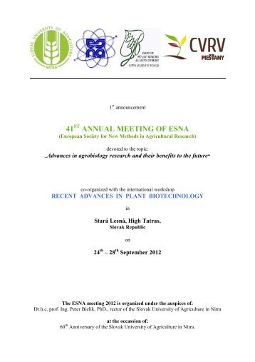 annual meeting of esna