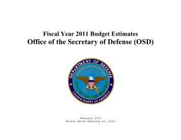 Office of the Secretary of Defense (OSD) - Comptroller