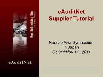 eAuditNet Supplier Tutorial - PRI