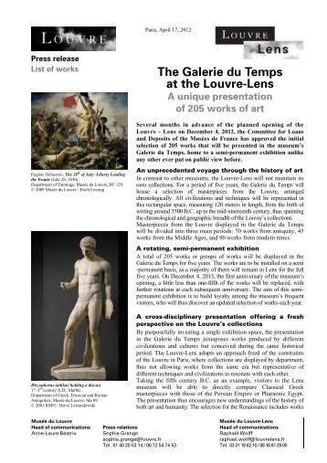 Download press release > pdf - Musée du Louvre