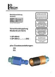 Verschlusskupplung Niederdruck-Serie 1-SP-009-0 1-SP-009-2