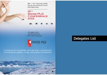 Swiss PLG Winter Conference 2012
