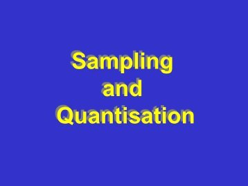 Sampling and Quantization - ETHZ - Computer Vision Lab