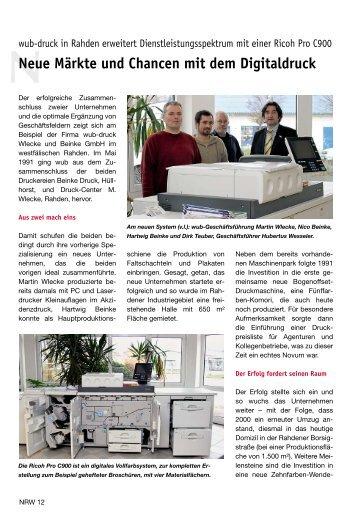 Neue Märkte und Chancen mit dem Digitaldruck - Hubertus Wesseler