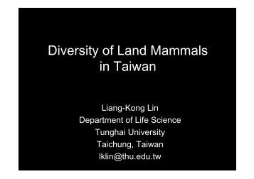 Diversity of Land Mammals in Taiwan