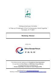 China-Europa Forum - Women - WS21 Workshop report - FGF