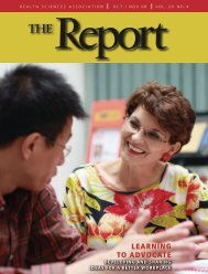 Report The - Health Sciences Association of British Columbia