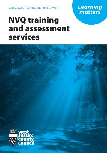 NVQ training and assessment services - West Sussex County Council
