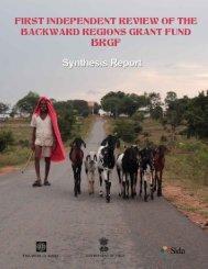 BRGF expenditures - National Institute of Rural Development