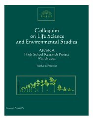 Colloquium on Life Science and Environmental Studies - Waldorf ...