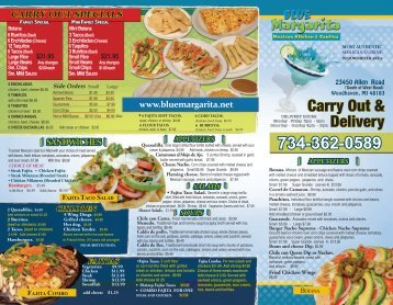 Carry Out & Delivery - Blue Margarita