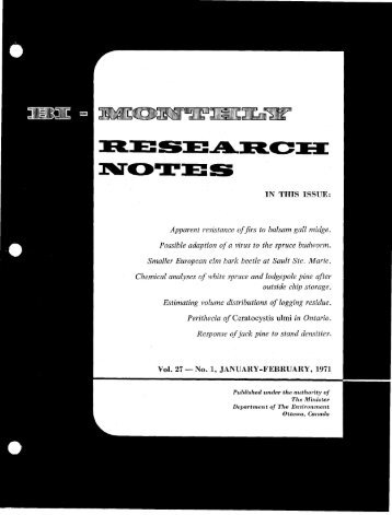 Bi-Monthly Research Notes: Vol 27, No 1-6 - NFIS