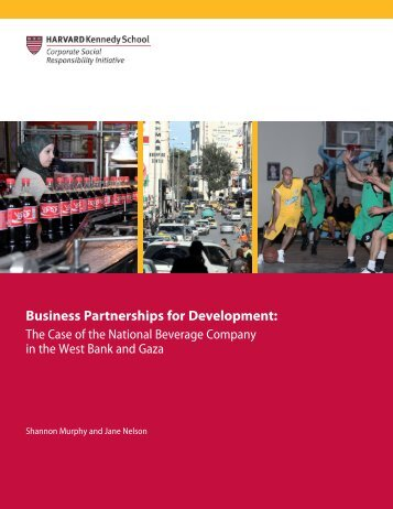 Business Partnerships for Development: - Harvard Kennedy School ...