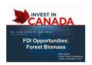 FDI Opportunities: Forest Biomass