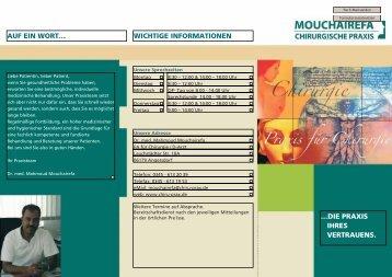 die chirurgischen leistungen - Chirurgische Praxis Dr. Mouchairefa