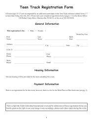 Summer Fest 2012 Registration Form (Teen Track) - Spirit & Truth ...