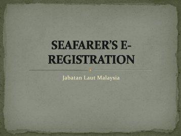 pendaftaran pelaut & buku perkhidmatan laut - Jabatan Laut Malaysia