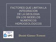 Factores que limitan la integración de la geologia en los modelos ...