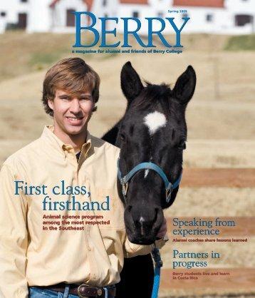 First class, firsthand First class, firsthand - Berry College