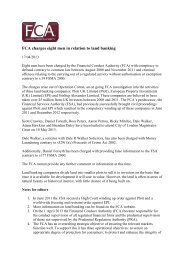 FCA Press Release - Frank-CS.org