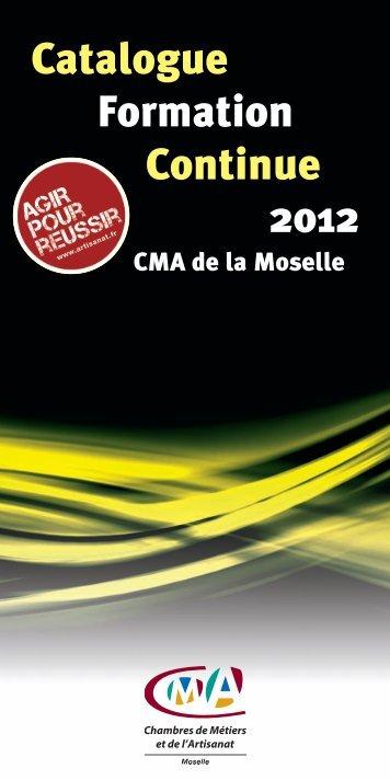 Catalogue Formation Continue 2012 - Chambre de métiers de la ...