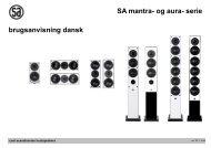 SA mantra- og aura- serie brugsanvisning dansk - System Audio